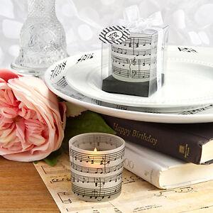 24 Musical Note Design Candles Bridal Shower Wedding Favors