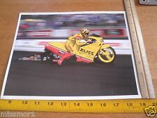 Steve Johnson Slick 50 Motorcycle racing 1990's rider photo card 8x10