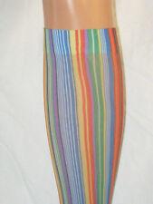 Rainbow Stripe Pop Socks. Knee high new tights. Bright green blue red yellow