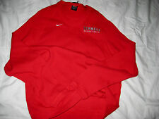 CORNELL BIG RED BASKETBALL IVY LEAGUE NIKE  EMBROIDERED LOGO JERSEY SWEATER- L