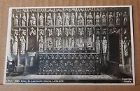 Postcard St Lawrence's Church Ludlow Real photo Friths card posted 1966