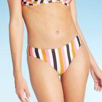 Women's Pique Textured Hipster Bikini Bottom - Shade & Shore - Sz M