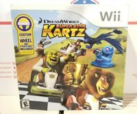 DREAMWORKS SUPER STAR KARTZ WII WITH WHEEL BUNDLE  - BRAND NEW
