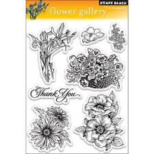 New Penny Black RUBBER STAMP clear Acrylic FLOWER GALLERY set free usa ship