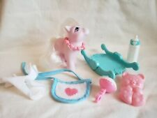 My Little Pony G1 Baby Blossom with Accessories Ponies Hasbro Vintage Toys