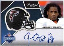 JACQUIZZ RODGERS 2011 Prestige Pro Helmet Autograph Rookie Auto On Card BV$30