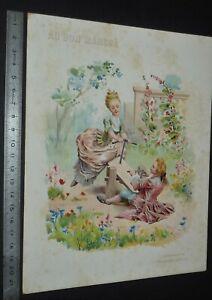 GRAND CHROMO 1906 AU BON MARCHE BOUCICAUT PARIS LELOIR ESCARPOLETTE LOUIS XV