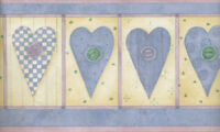 DEBBIE MUMM COUNTRY HEARTS AND BUTTONS WALLPAPER BORDER