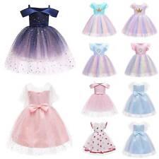 Baby Kids Flower Girls Princess Christmas Party Tutu Dress Formal Wedding Prom