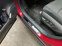 For Mazda 3 Auto Accessories Door Sill Cover Scuff Plate Protector Car Sticker