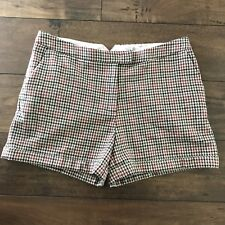H&M Multi-Color Plaid Wool Blend Cuffed Shorts Sz 12 NWT