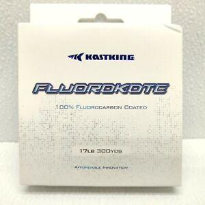 KastKing Fluorokote Fishing Line 300Yd 17LB Fluorocarbon Coated Line