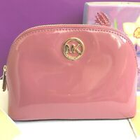 Michael Kors MK Fulton Tulip Patent Leather Cosmetic Bag Make-up Travel Pouch