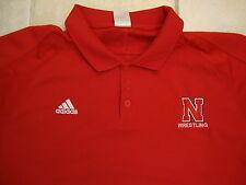 NCAA Nebraska Cornhuskers College Coaches Polo collar style Red T Shirt XL / 2XL