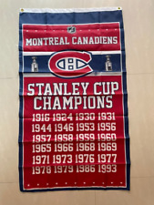Montreal Canadiens Stanley Cup Champions Flag 3X5 Ft Hockey Nhl Banner Polyester
