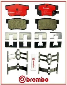 Rear Brake Pad Set BREMBO Ceramic For Accura Honda Suzuki With Hardware