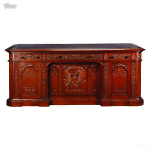 Large Mahogany Presidents Resolute Desk Replica