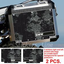 Adesivi valigie BMW R1200 R1250 GS adventure PLANISFERO BLACK adv bags stickers