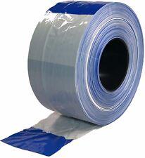 Absperrband Blau Weiss Flatterband 80mm x 500m kräftige Farbe blau