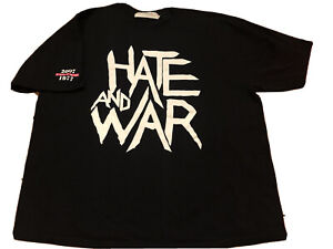 Vintage HATE AND WAR The Clash Band Song London Punk Rock Ska Anarchy Black XXL