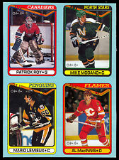 1990 O-PEE-CHEE OPC Mario Lemieux Patrick Roy ENM BOX BOTTOM 4 CARD UNCUT PANEL