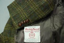 HARRIS TWEED men's sport jacket coat stunning dark green hues plaid US 44R