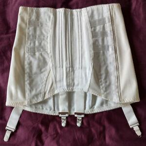 "EXCELSIOR Vintage Corset Girdle, Foundation w/suspender clips. size W 26"" (66cm)"