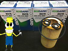 Premium Oil Filter for Mercedes Benz C230 with 2.5L Engine 2006-2009 Pack of 4