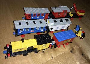 LEGO 162 Lok + Motor - 161 - 147 - 137 Eisenbahn - 4,5V  incl. Schienen blau