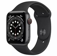 Apple Watch Series 6 44mm GPS + Cellular Space Gray Case with Black Sport Band