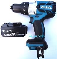 New Makita 18V XPH07 LXT Brushless 1/2 Hammer Drill, (1) BL1830B Battery 18 Volt