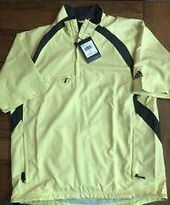 NWT Adidas ClimaProof Golf Wind Rain 1/2 Zip Windbreaker Short Sleeve Jacket M