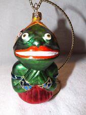 Vintage Christopher Radko Frog Lady Glass Ornament
