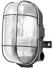 Oval Caged Bulkhead Light - Black - 60W S5879 POWERMASTER