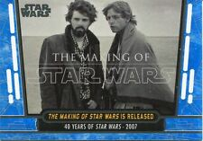 Star Wars 40th Anniversary Blue Base Card #91 The Making of Star Wars is Relea