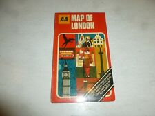 MAP OF LONDON - AA Map - 1980's