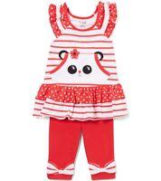 Girls t shirt ruffle pants Christmas reindeer outfit 12-18-24 months NWT deer