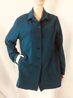 Chico's Design Jacket Chico's Size 1 (M) Green Long Sleeve Button Front Pockets