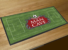 Man Cave Beer Label Football Pitch fathers day gift bar runner counter mat