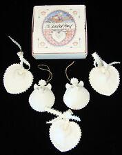 Lot of 5 Margaret Furlong Porcelain Christmas Ornaments Oh Sweetest Heart Angels