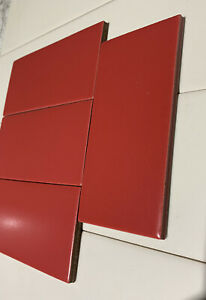 8 Tiles Roma Red Daltile 3x6 Subway QH96361P   Lot Of 8  Daltile Natural Hues