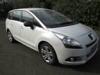 LATE 2013 PEUGEOT 5008 E HDI S AUTO 7 SEATER MPV 1 OWNER FROM NEW LONG MOT