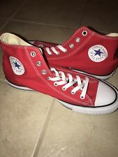 d4f6f7933a39 Men s Converse All Star Chuck Taylor High HI Sneakers Shoes Red US Size 9