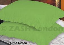 Green Pillowcases | Patterned, Plain