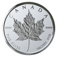CANADA 2019 99.99% PROOF SILVER MAPLE LEAF BULLION MEDALLION COIN