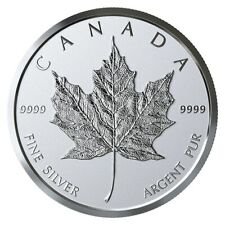 CANADA 2019 99.99% PROOF SILVER MAPLE LEAF BULLION MEDALLION TWO FINISHES COIN