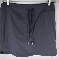 Green Tea Tennis Skirt Sz L Gray Nylon Pockets Shorts under Golf Grey N