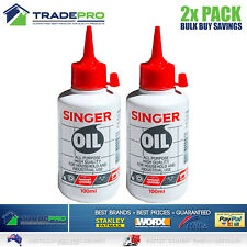 Singer Sewing Machine Oil 200ml Lubricant Domestic Industrial Lube Hinge Lock
