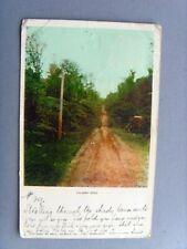 HONOLULU HAWAII VOLCANO ROAD VERY EARLY 1903 ANTIQUE COLOUR POSTCARD