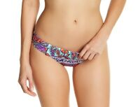 Trina Turk 145729 Womens Batik Shirred Bikini Bottom Swimwear Multi Size 6